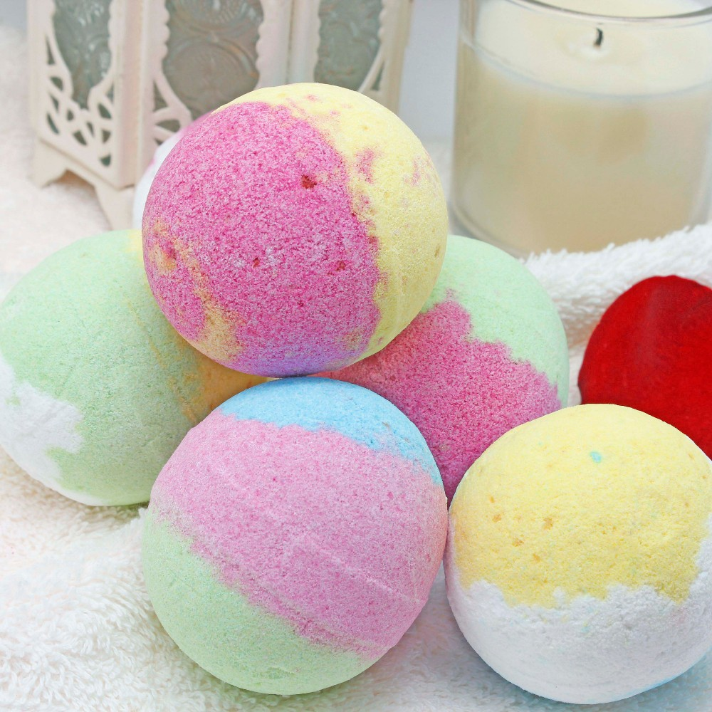 Natural Private label shea butter fizzy bath bomb