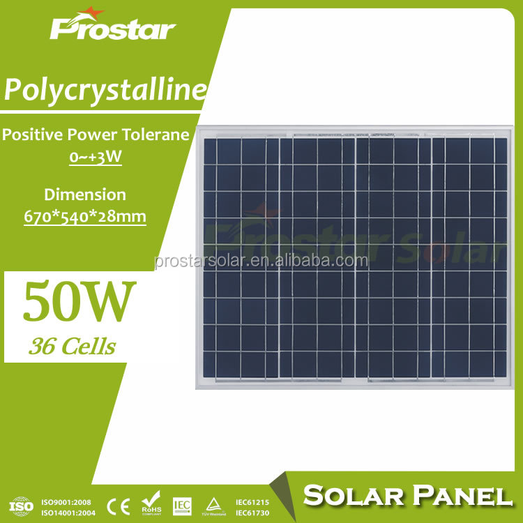 chinese reliable solar panel factory 50watt poly panels solar 500 wp 24v solar panel 50w