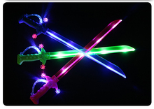 Wholesale LED flashing plastic sword for kids toy