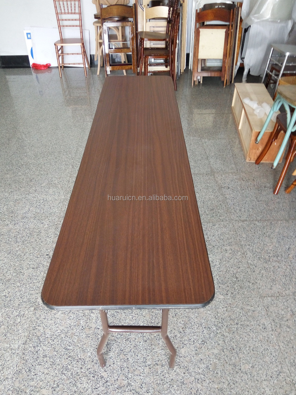 High quality folding dining wood banquet <strong>table</strong>