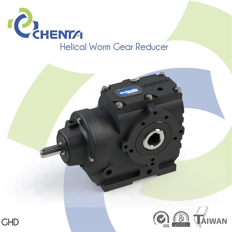 GHD helical gear advantages 90 degree speed reducer right angle aluminium 1:30 ratio speed reducer gearbox