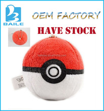 2016 Hottest game toys chinese wholesale toy factory plush ball pokemon pokeball