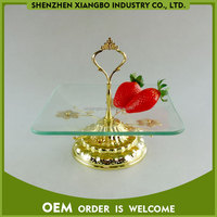 Fruit plate glass food serving tray / serving dinner plate XB-07