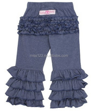 Hot Sale USA Faux Denim Fancy Flare Pants for kids