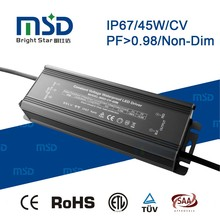 High PF>0.98 IP67 Constant Voltage Waterproof LED Driver 45W 12V 24V 36V for LED Street Light Floodlight with 5 years warranty