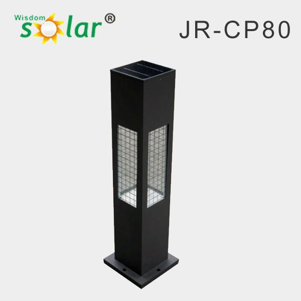 Aluminum led outdoor security garden light solar bollard lights decorative landscape lighting