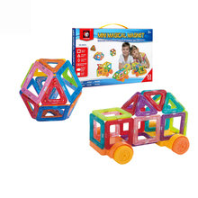 Hot Selling Magnet Tiles Magnetic Building Blocks Set 3D Model Toys for Kids