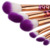 11 pcs rose gold plastic plating handle makeup brushes set with synthetic hair make up
