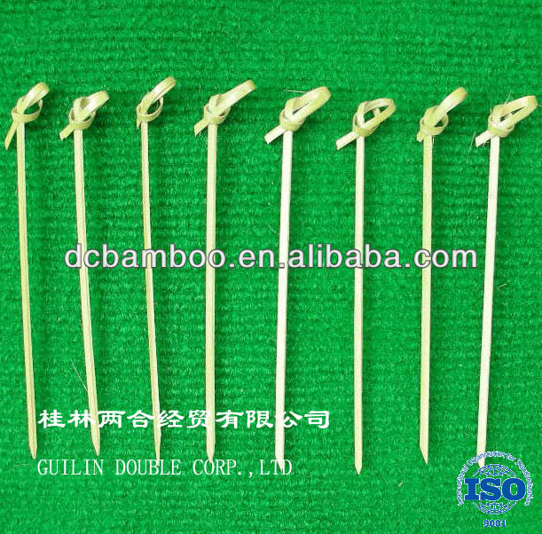 hot selling good quality natural knotted bamboo skewer