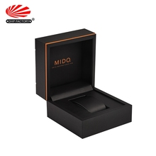 Luxury Black Cardboard Packaging Custom Gift Strap Watchbox OEM Paper Watch Box Logo