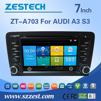 ZESTECH OEM Dashboard placement car dvd player for Audi A3 S3 CAR DVD GPS NAVIGATION