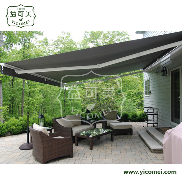 open cassette arm balcony retractable awnings