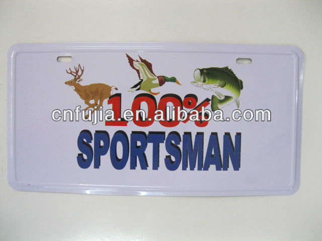 USA tin license plate,Raised number plate,metal plate