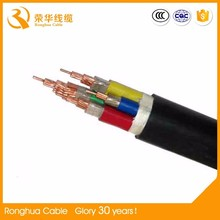 4 core 6 sq mm nominal section 0.30 mm diameter of core 300 v 500 v medium type rubber cables