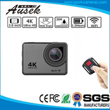 CE/FCC Action Cam 16MP 4K WiFi Waterproof Sports Camera go pros with Rechargeable Batteries