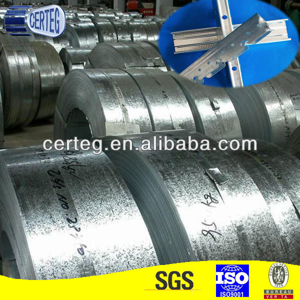 DX51DZ80 Galvanized Steel Strip Making Sliding Door Track