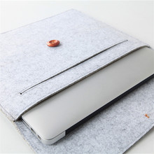 recycled wool felt laptop bag for macbook
