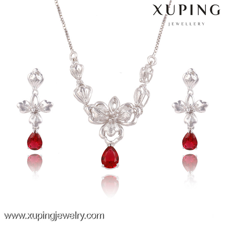 63587 rhodium gold color wedding chic single jewellery,necklace set,jewelry set