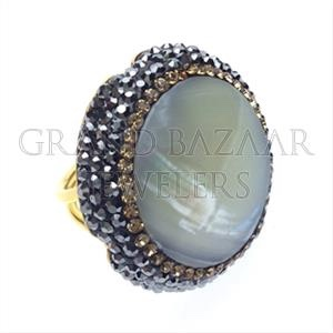 925 Sterling Silver Ring Gold 21k 18k 14k 8kt Wholesale Jewellery Manufacturer Handmade Druzy Design