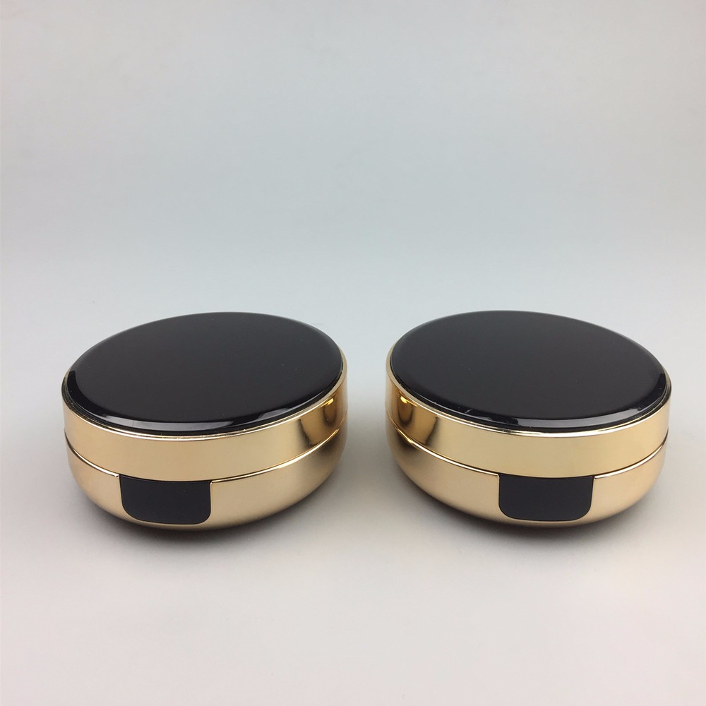 OEM 15g plastic round gold empty air cushion case / foundation powder container