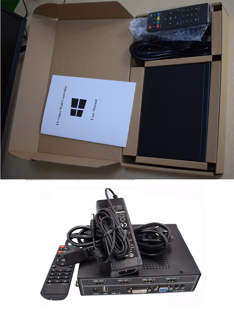 Easy Video Wall Controller, Splicing control box for TV, monitors and video walls