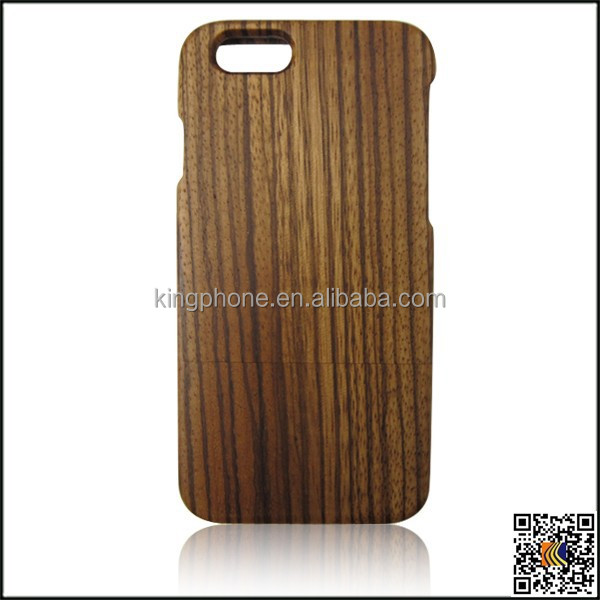 For iphone 6 back cover/zebra wood phone case/4.7inch wooden case