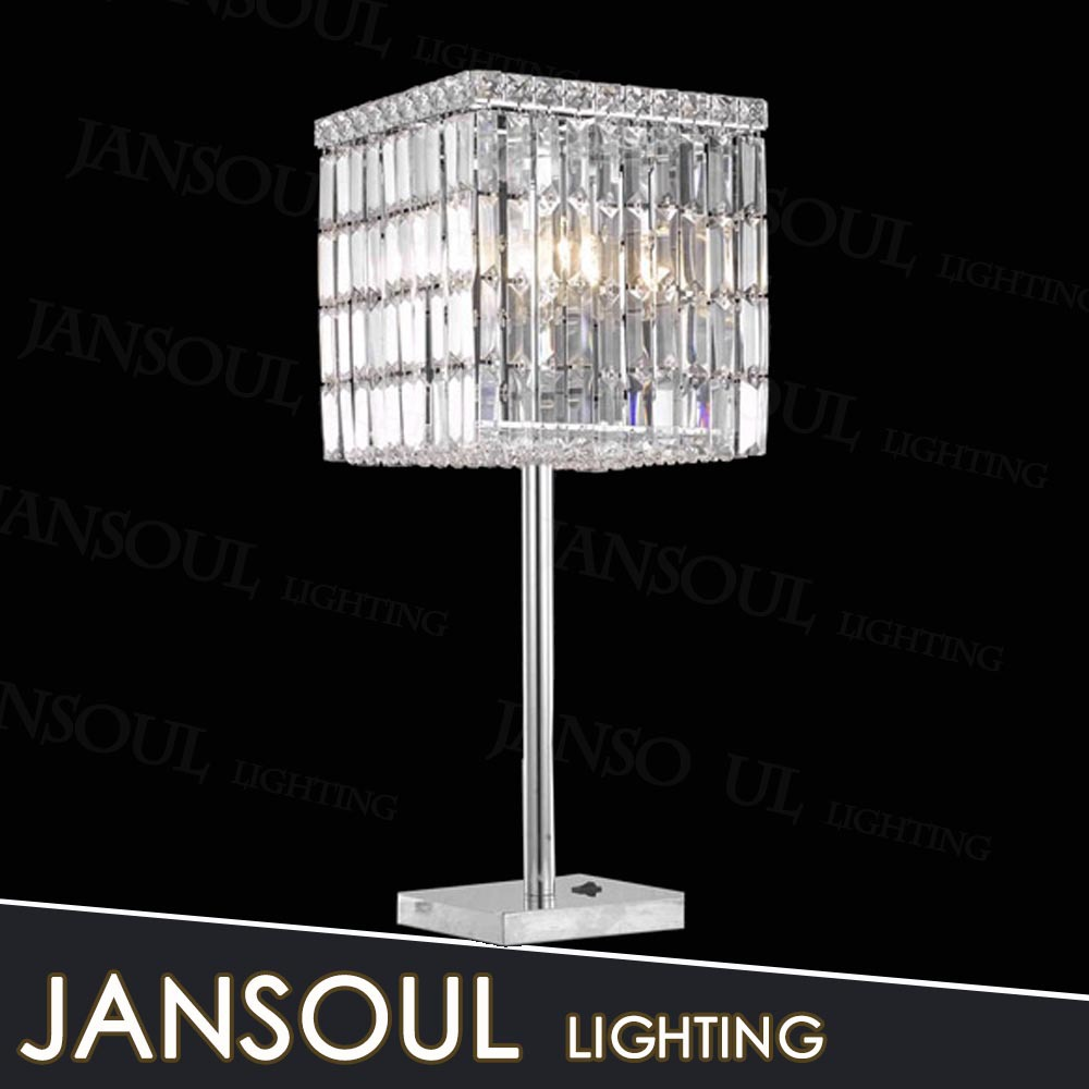 zhongshan cheap home goods decorative crystal table lamps nail light with glass lampshape