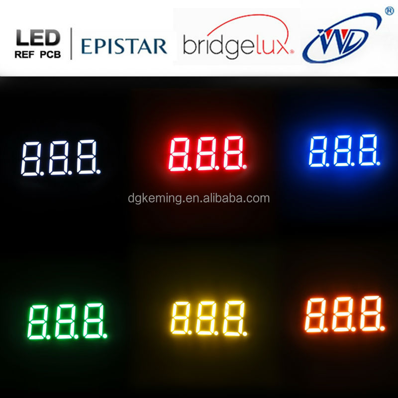 cc ca 0.36 inch mini numbers 3 digit 7 segment led numeric display ,12pins