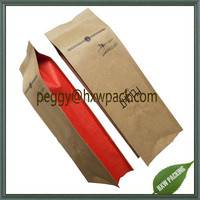 Aluminum foil kraft paper coffee bag with one-way degassing valve