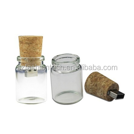 Novelty drift bottle USB Flash Drive Cork secret message USB flash disk