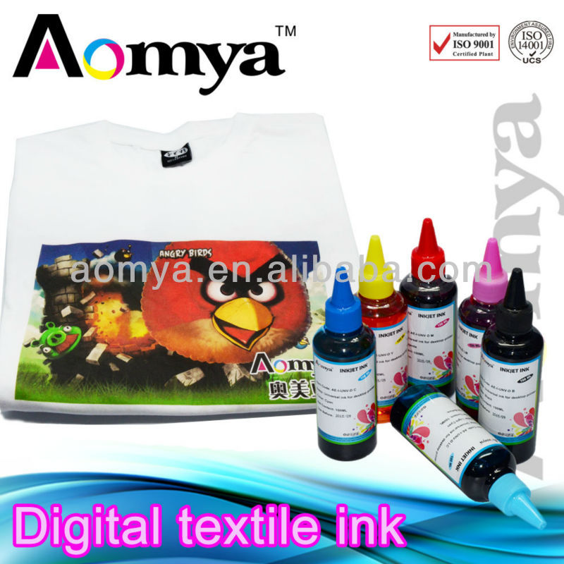 DTG Ink for Epson for cotton T-shirt printing ink Textile ink no need pretreatment.