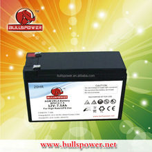 12v 7.5ah ups battery high amp battery ups battery 12v 7.2ah for emergency power system BPH12-7.5