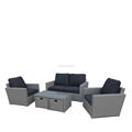 Hot sale garden furniture outdoor rattan sofa set