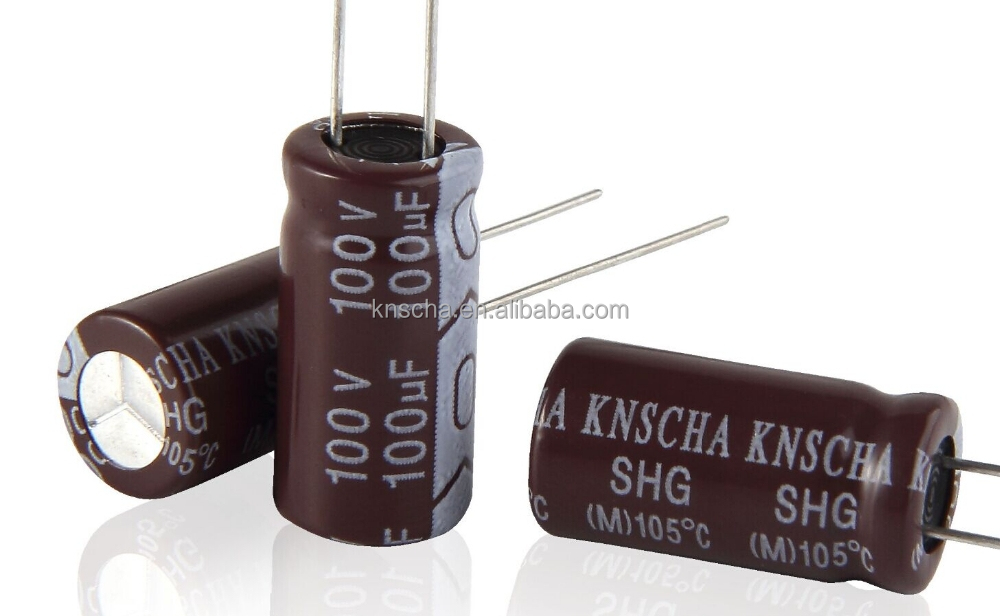 KNSCHA Aluminum electrolytic capacitor 450v 6.8uf (10x20mm) with Ultra long life time up to 10000Hours