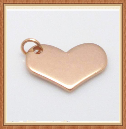 SP-6002 heart shape stainless steel jewelry blank