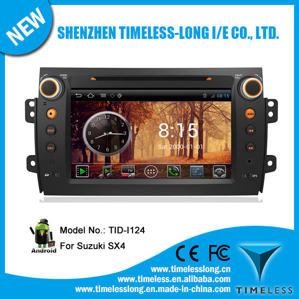 Android system 2 din Car Audio for SUZUKI SX4 2006-2012 with GPS Ipod DVR digital TV BT Radio 3G/Wifi(TID-I124)