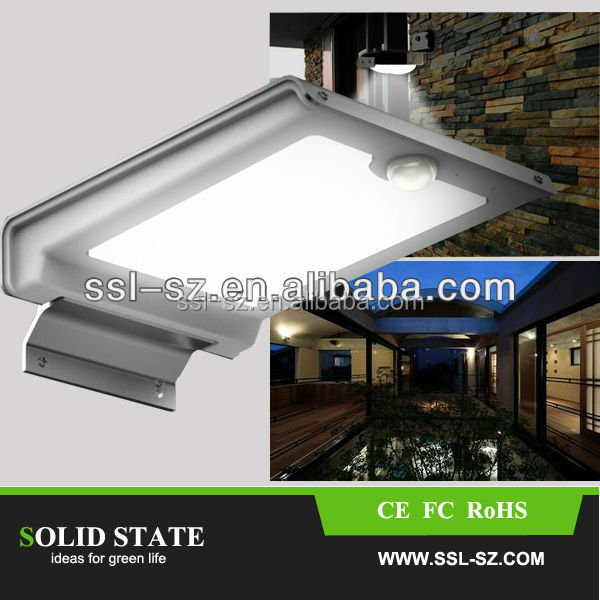China Alibaba Hot Selling Automatic Sensor Mini Solar LED Lights solar garden led lighting with motion sensor