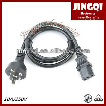Argentina Male Power Plug to IEC 60320 C13 connector (IRAM approved) power cord power plug