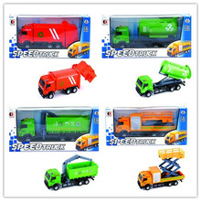 new promotion construction alloy model toy container truck with EN71