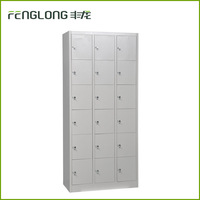 office staff iron pigeon holes pad lock18 door metal storage 18 tie steel cabinet locker