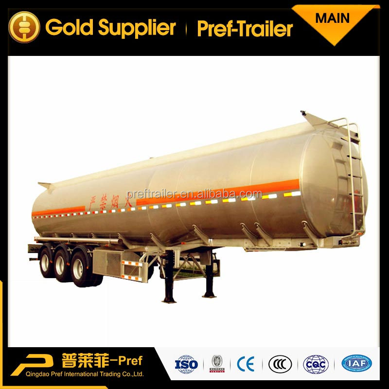Liquid Food Tank Aluminum Alloy or Stainless Steel Water Tanker 40000 Liters Fuel Tank Trailer