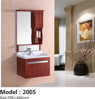 Factory Supplier Wall Mounted Solid Oak Wood Bathroom Vanity Cabinets With Mirror