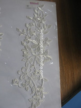 flower lace100% polyester ribbon embroidery for wedding dress and garment