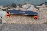 High speed remote control 8-layer maples electric powered booster skate board