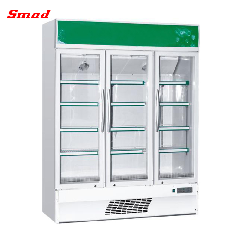 520L Supermarket Commerical Big Size Glass Display Showcase