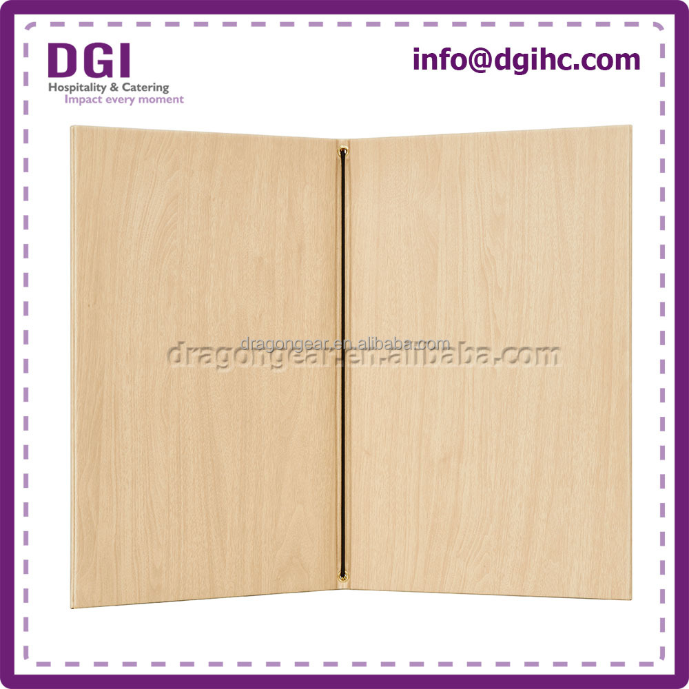 Decorative hot sale menu covers with best quality and low price