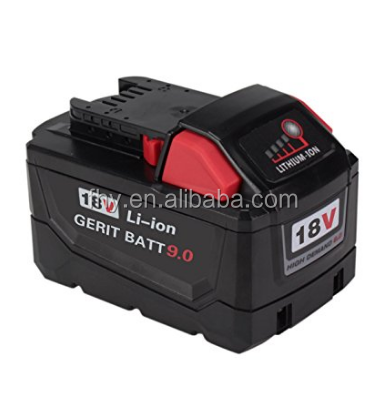 18V 9.0Ah Replacement Battery for Milwaukee M18 Demand Battery Pack 48-11-1890 Cordless Power Tools