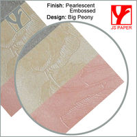 embossed pearl paper and cardstock