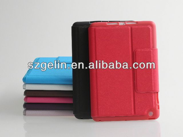 electric tension leather book cover case for ipad mini