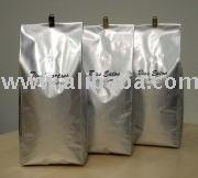 2lb Poly Gusset Coffee Bag with Swiss valve